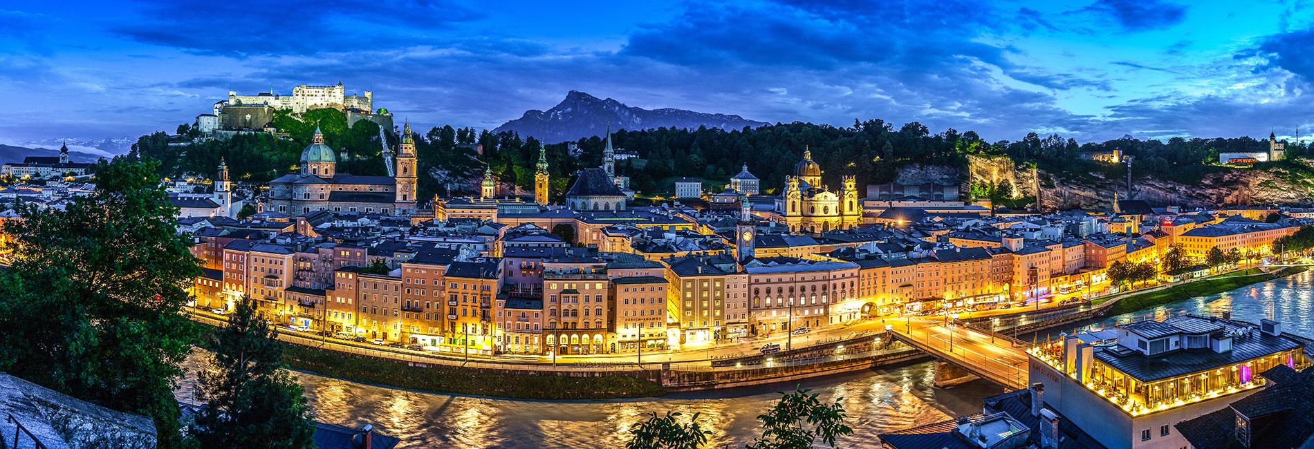 Salzburg Guide Tourismus - Nachtpanorama