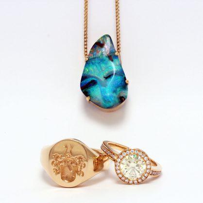 Salzburg Guide Shopping - Juwelier Salzburger - Opal-Siegelring