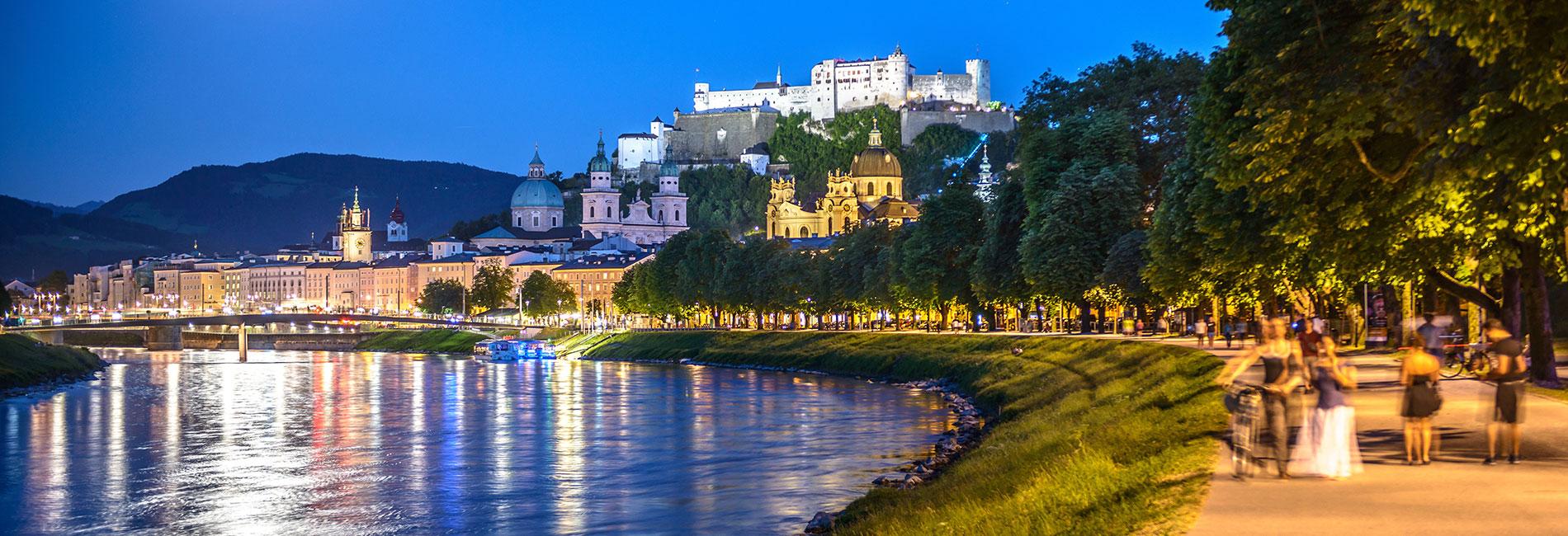 Salzburg Guide Tourismus - Stadtblick Salzach