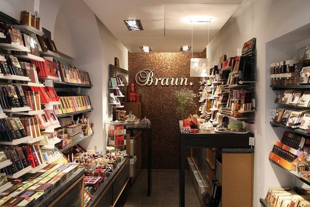Salzburg Guide Eat & Drink - Braun. Internationale Manufaktur-Schokolade