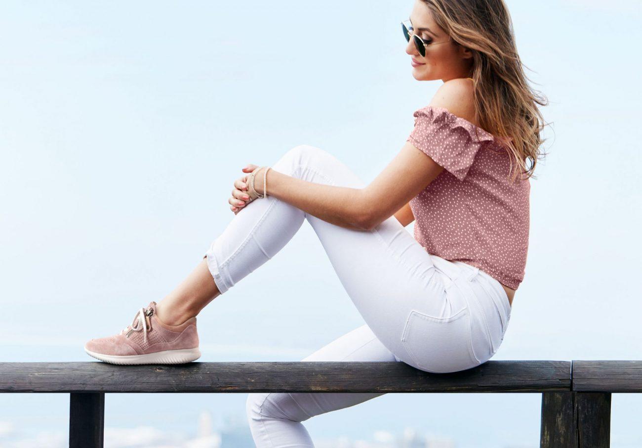 bequeme rosa Schuhe